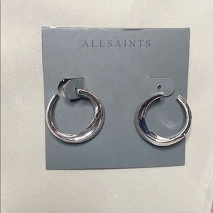 All Saints Sculptural Hoops NWT